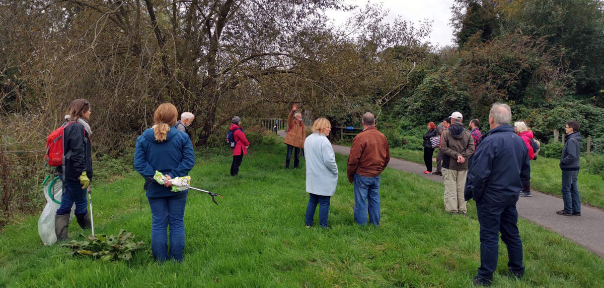 Guided walk with local Extinction Rebellion members